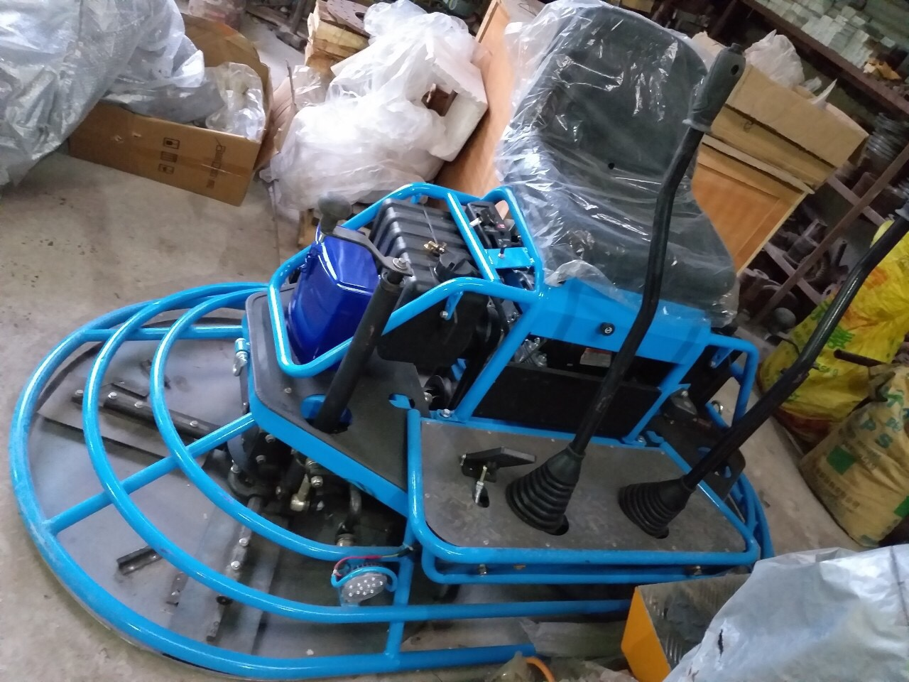 máy xoa nền bê tông đôi